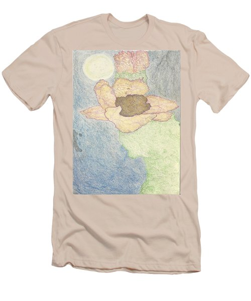 Men's T-Shirt (Slim Fit) featuring the drawing Between Dreams by Kim Pate
