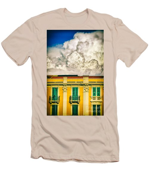 Men's T-Shirt (Slim Fit) featuring the photograph Big Cloud Over City Building by Silvia Ganora