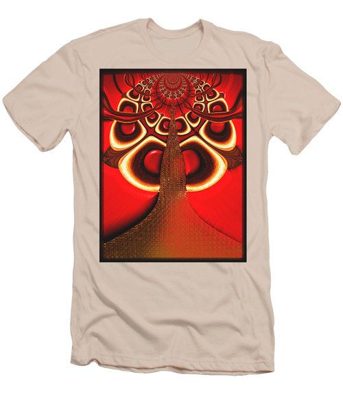 Big Tree From The Red Forest Men's T-Shirt (Slim Fit) by Wendy J St Christopher
