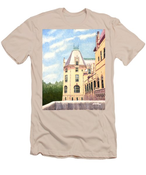 Men's T-Shirt (Slim Fit) featuring the painting Biltmore Balcony by Stacy C Bottoms
