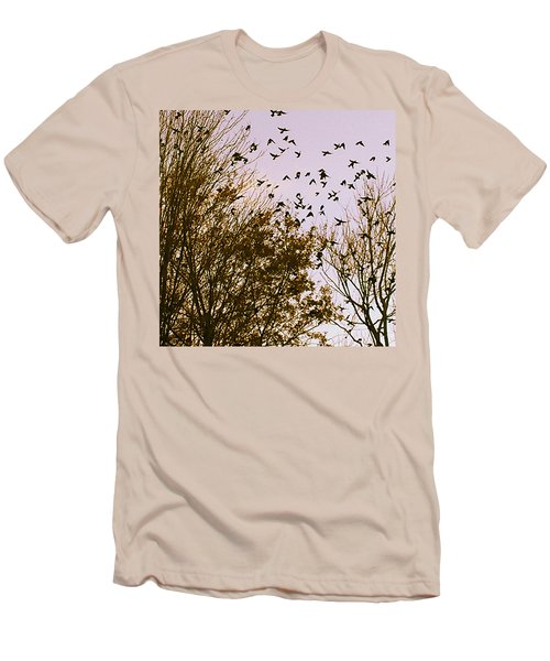 Birds Of A Feather Flock Together Men's T-Shirt (Slim Fit)