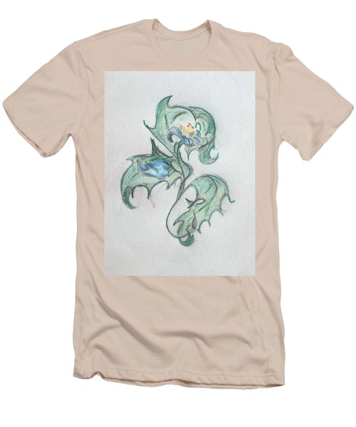 Blue Blossom 2 Men's T-Shirt (Athletic Fit)