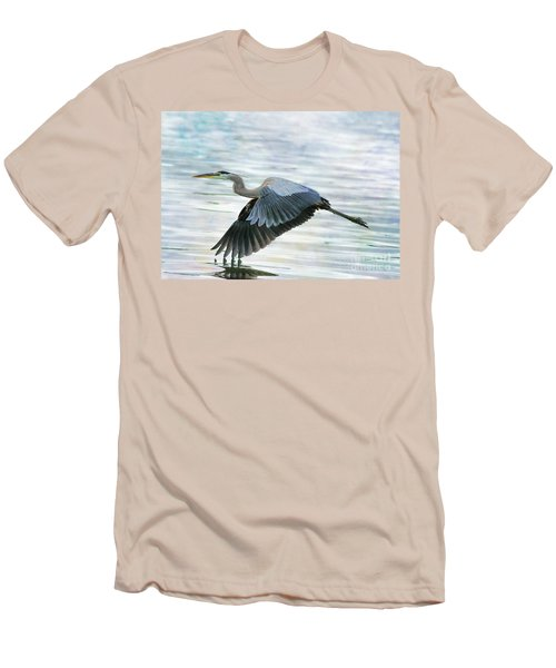 Blue With Grace And Beauty Men's T-Shirt (Slim Fit) by Deborah Benoit