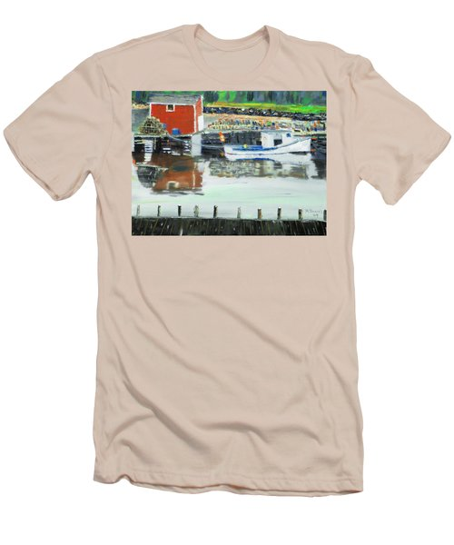 Boat At Louisburg Ns Men's T-Shirt (Athletic Fit)
