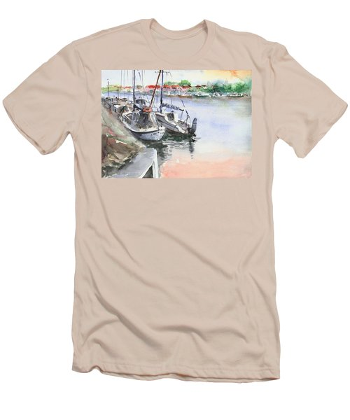 Boats Inshore Men's T-Shirt (Slim Fit) by Faruk Koksal