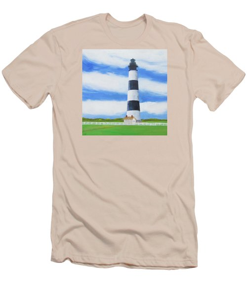 Bodie Island Lighthouse Men's T-Shirt (Slim Fit) by Anne Marie Brown