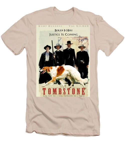 Borzoi Art - Tombstone Movie Poster Men's T-Shirt (Athletic Fit)