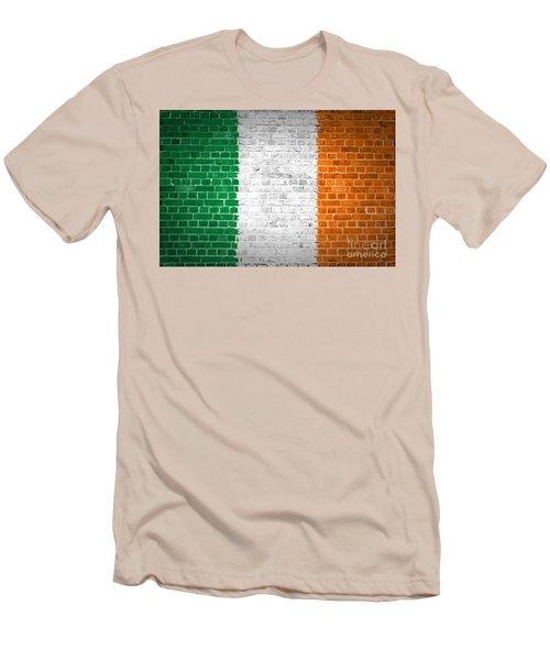 Brick Wall Ireland Men's T-Shirt (Slim Fit) by Antony McAulay