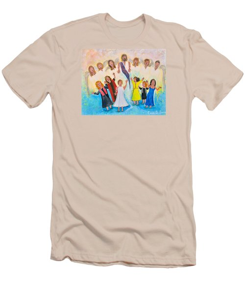 Men's T-Shirt (Slim Fit) featuring the painting Bridal Invitation by Cassie Sears