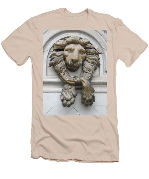 Men's T-Shirt (Slim Fit) featuring the photograph Bronze Lion by Pema Hou