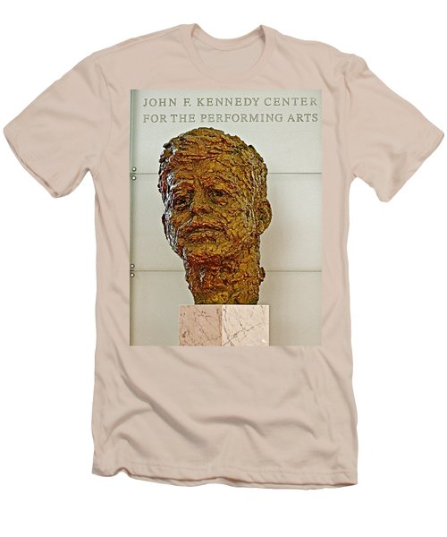Bronze Sculpture Of President Kennedy In The Kennedy Center In Washington D C  Men's T-Shirt (Athletic Fit)