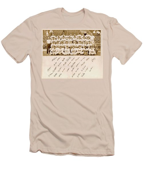 Brooklyn Dodgers Baseball Team Men's T-Shirt (Slim Fit) by Bellesouth Studio