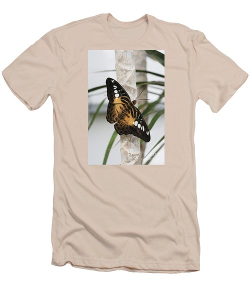 Brown Clipper Butterfly #2 Men's T-Shirt (Slim Fit) by Judy Whitton