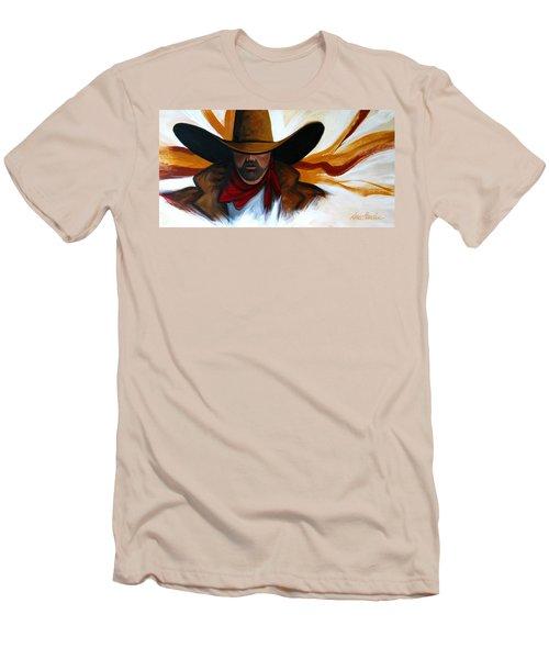 Brushstroke Cowboy #4 Men's T-Shirt (Slim Fit) by Lance Headlee