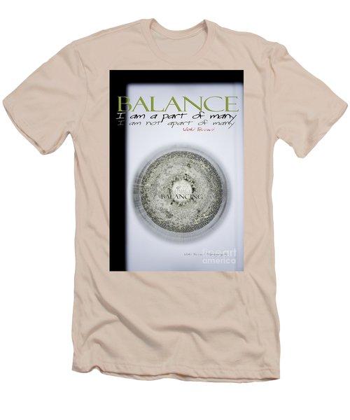 Bubbles Balance Bubbles Men's T-Shirt (Slim Fit) by Vicki Ferrari