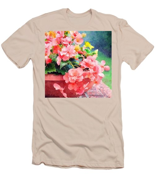 Bucket O Begonias Men's T-Shirt (Athletic Fit)