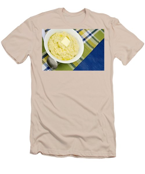 Cheese Grits With A Pat Of Butter Men's T-Shirt (Athletic Fit)