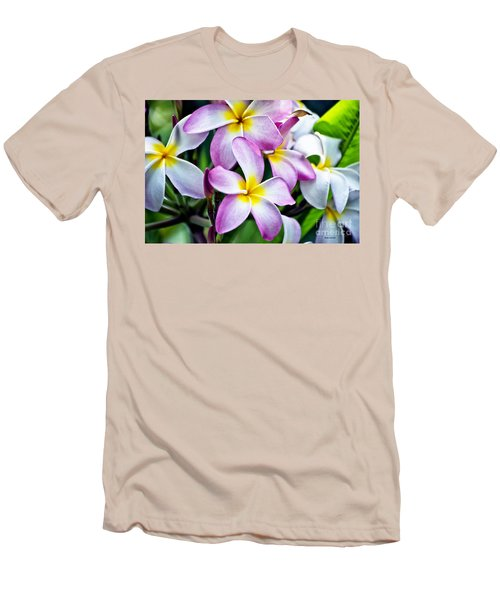 Men's T-Shirt (Slim Fit) featuring the photograph Butterfly Flowers by Thomas Woolworth