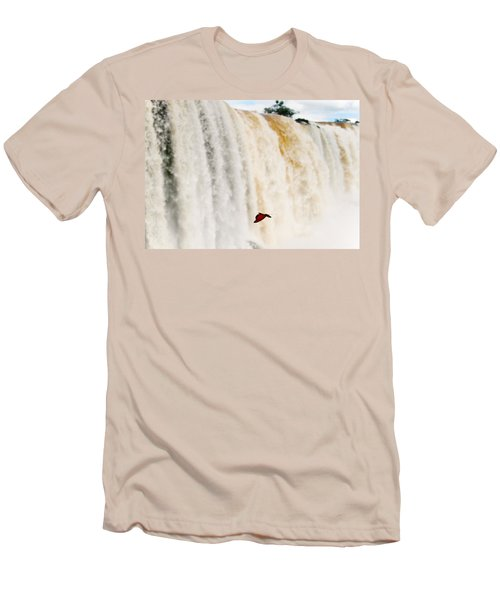 Men's T-Shirt (Slim Fit) featuring the photograph Butterfly by Silvia Bruno