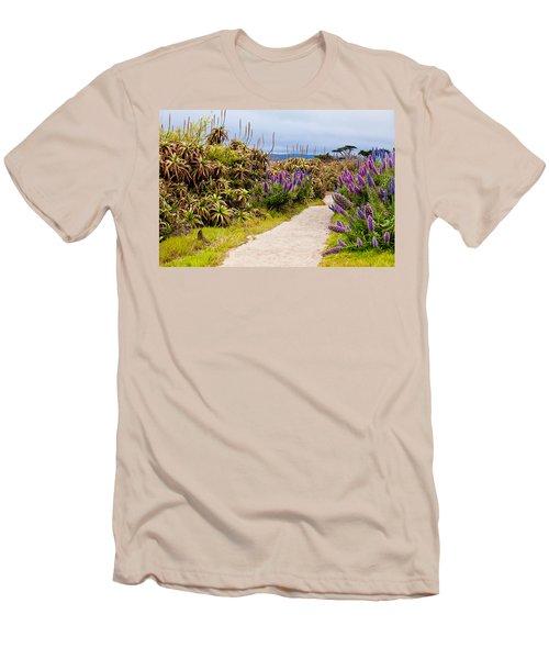 California Coastline Path Men's T-Shirt (Slim Fit) by Melinda Ledsome