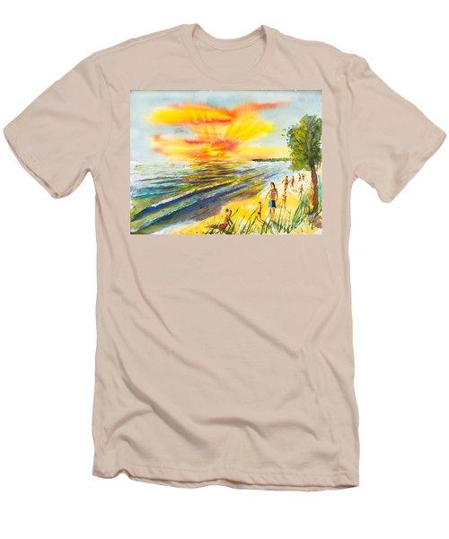California Sunset Men's T-Shirt (Athletic Fit)