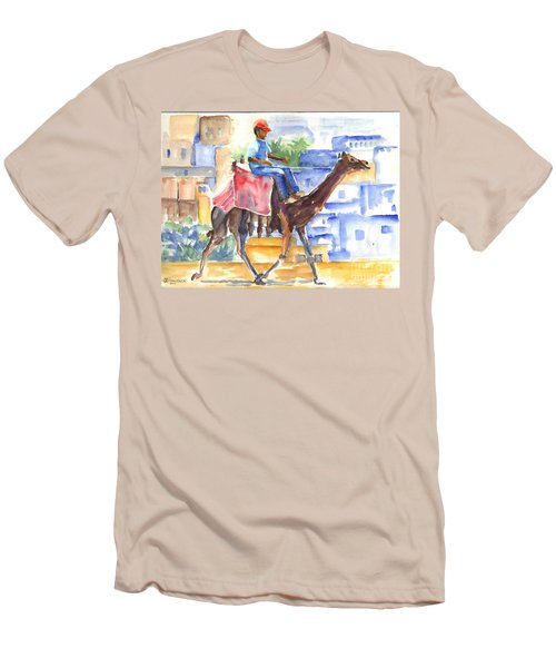 Men's T-Shirt (Slim Fit) featuring the painting Camel Driver by Carol Wisniewski