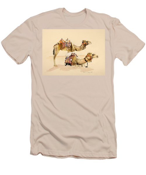 Camels From Petra Men's T-Shirt (Slim Fit)