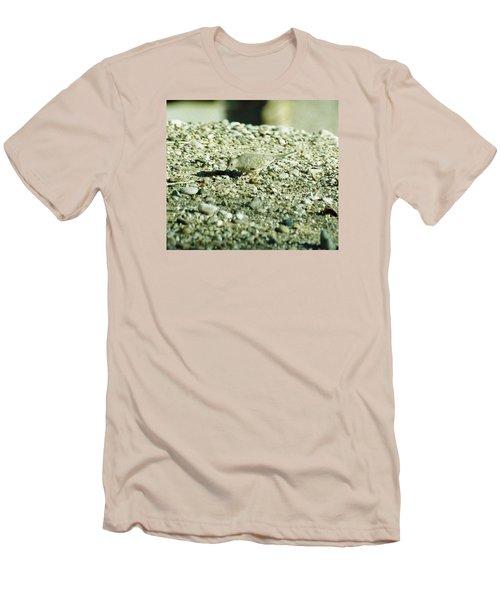Men's T-Shirt (Slim Fit) featuring the photograph Arizona Camo Bird by Belinda Lee