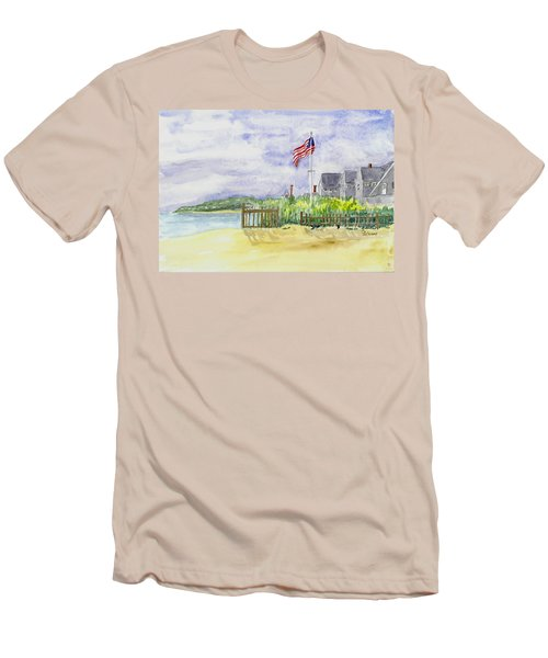 Massachusetts -cape Cod Cottages Men's T-Shirt (Athletic Fit)