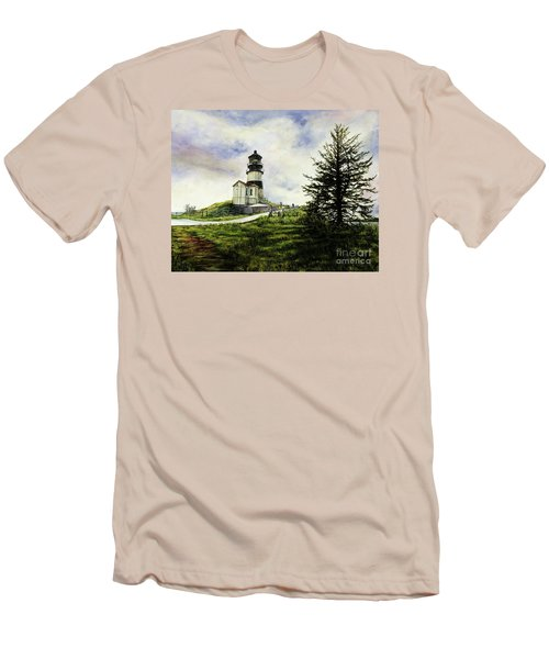 Cape Disappointment Lighthouse On The Washington Coast Men's T-Shirt (Athletic Fit)