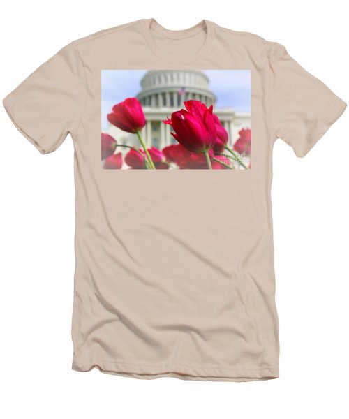 Men's T-Shirt (Slim Fit) featuring the photograph Capital Flowers  by John S