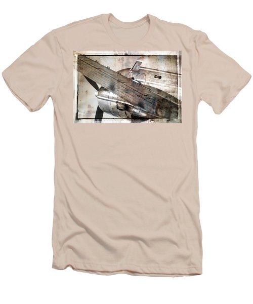 Captain's Flight Men's T-Shirt (Slim Fit) by Steven Bateson