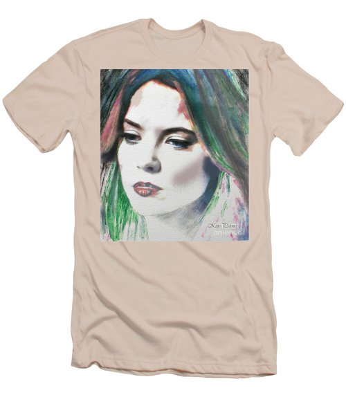 Men's T-Shirt (Slim Fit) featuring the digital art Carrie  by Kim Prowse