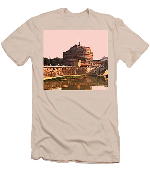 Men's T-Shirt (Slim Fit) featuring the photograph Castel Sant 'angelo by Brian Reaves