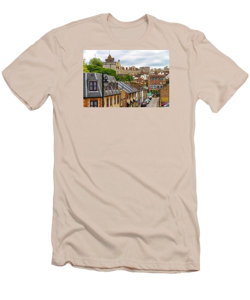 Castle Above The Town Men's T-Shirt (Slim Fit) by Tim Stanley