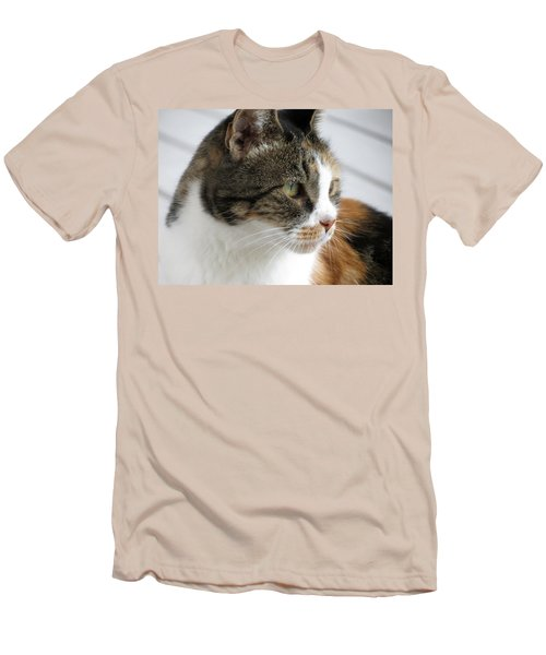 Men's T-Shirt (Slim Fit) featuring the photograph Cat by Laurel Powell