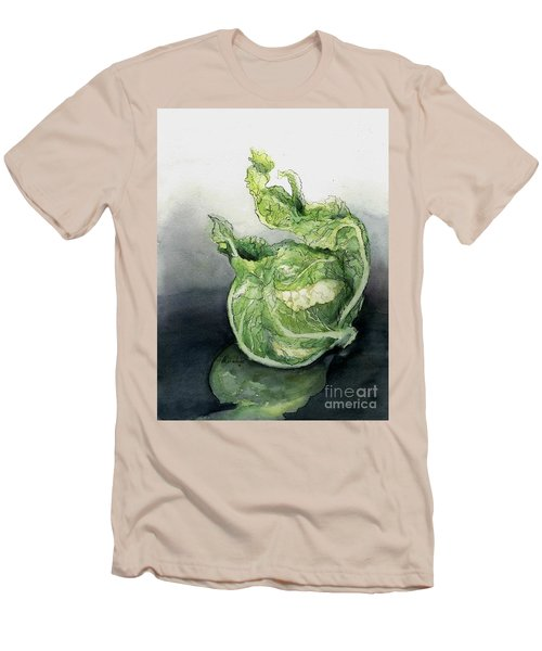 Cauliflower In Reflection Men's T-Shirt (Slim Fit) by Maria Hunt