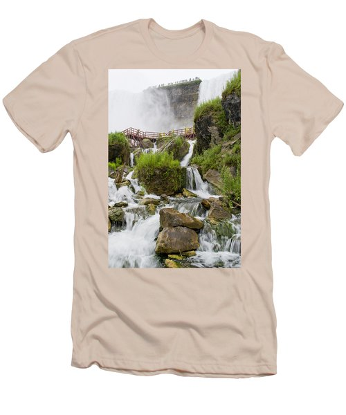 Cave Of The Winds At Niagara Falls Men's T-Shirt (Athletic Fit)