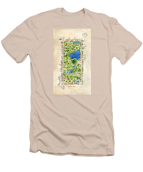 Central Park And All That Surrounds It Men's T-Shirt (Slim Fit) by AFineLyne