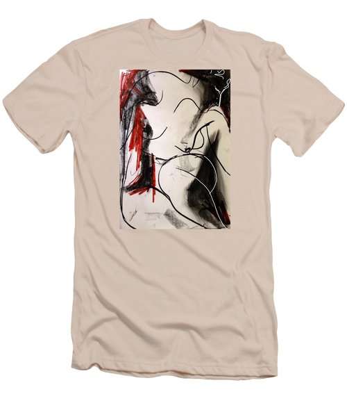 Men's T-Shirt (Slim Fit) featuring the drawing Chameleon by Helen Syron