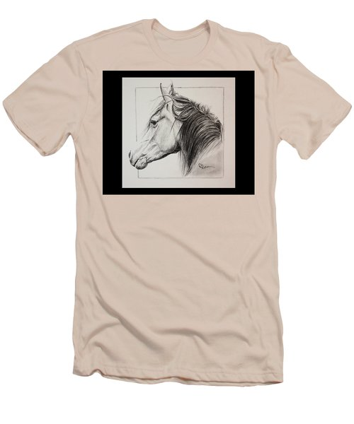 Men's T-Shirt (Slim Fit) featuring the drawing Champion by Rachel Hames