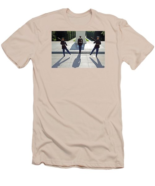 Men's T-Shirt (Slim Fit) featuring the photograph Changing Of The Guard by Cora Wandel