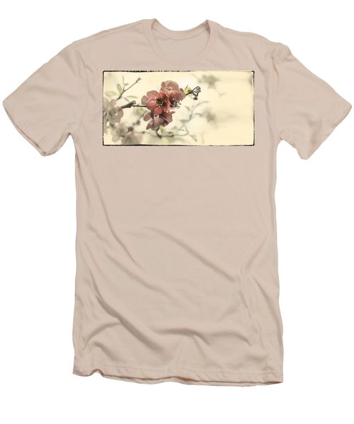 Men's T-Shirt (Slim Fit) featuring the photograph Cherry Blossoms by Peter v Quenter