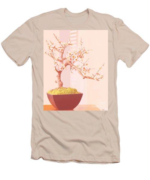 Cherry Bonsai Tree Men's T-Shirt (Slim Fit) by Marian Cates