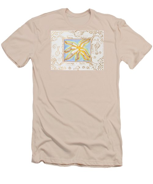 Men's T-Shirt (Slim Fit) featuring the painting Cherubim by Cassie Sears