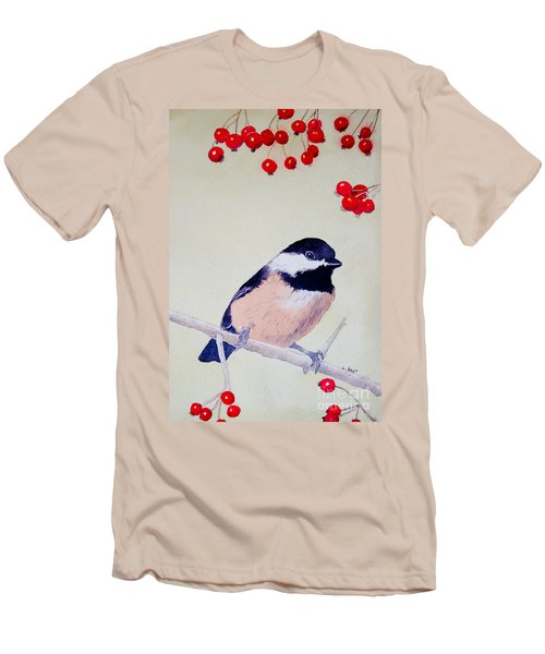 Chickadee Men's T-Shirt (Athletic Fit)