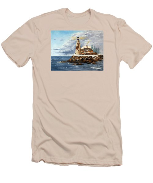 Christmas Island Men's T-Shirt (Slim Fit) by Lee Piper