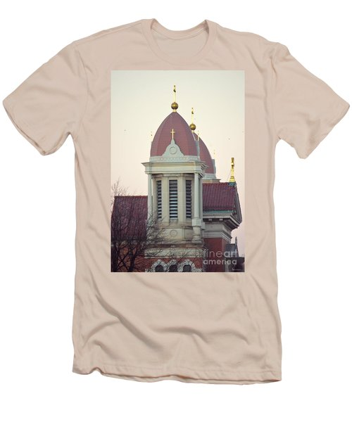 Church Of Gold Crosses Men's T-Shirt (Athletic Fit)