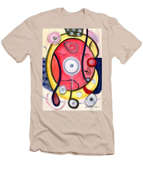 Men's T-Shirt (Slim Fit) featuring the painting Circle For Lovers by Stephen Lucas