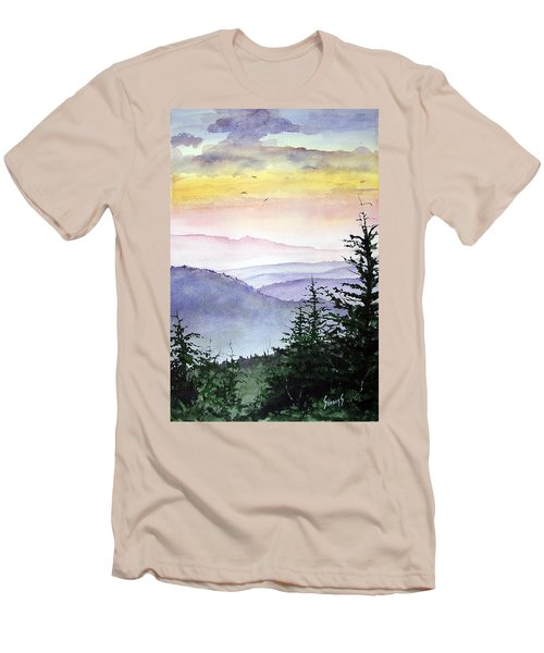 Clear Mountain Morning II Men's T-Shirt (Athletic Fit)